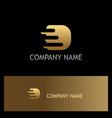 letter d technology gold logo vector image