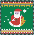 Color ornamental print with Santa vector image