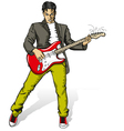 Punk with the guitar vector image