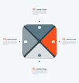 infographic temlate with square 4 options vector image