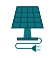 solar panel energy ecological clean vector image