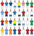 Fudbaleri sve reprezentacije vector image vector image