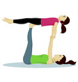 acro yoga with child vector image vector image