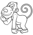 Monkey outline vector image vector image