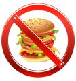 high calorie food vector image vector image