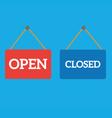open closed door sign vector image