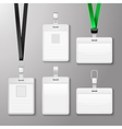 Identification white blank id cards set vector image
