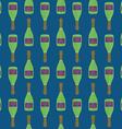 pop art champagne bottle seamless pattern vector image