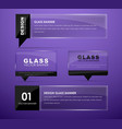 Design glass banners with text vector image
