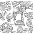 Black white seamless pattern with decorative vector image