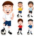 Boy soccer player vector image