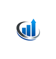 Chart growth business finance cash logo vector image