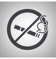 Do not smoking icon vector image