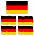 Flat and Waving Flag Of Germany vector image