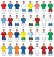 Fudbaleri sve reprezentacije vector image