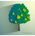 pear tree isolated on light background vector image