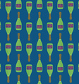 pop art champagne bottle seamless pattern vector image