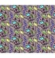 seamless cartoon style pattern of birds vector image