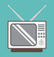 vintage tv flat icon household and appliance vector image