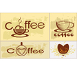 Coffee tee menu vector image vector image