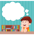 Boy thinking vector image vector image