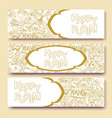 purim golden banners collection vector image