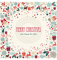 Merry Christmas holiday colorful icons vector image vector image