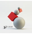 Composition of 3d geometric shapes vector image