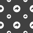 Arrow right Next icon sign Seamless pattern on a vector image