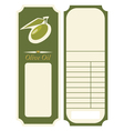 - olive oil label template vector image