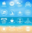 Set Summer LabelsTemplates vector image vector image