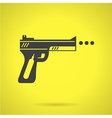 Black sport airgun flat icon vector image