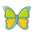 cartoon butterfly icon on white background vector image