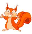 Friendly Squirrel vector image