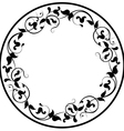 Round pattern vector image