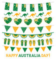 Banner decoration in national colors of Australia vector image