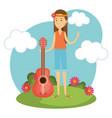 hippie people design vector image