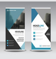 blue black triangle square business roll up vector image