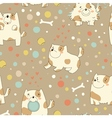 Pattern with cute puppy vector image vector image