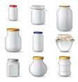 Empty glass jars vector image vector image