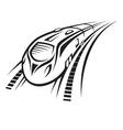 rapid train vector image vector image