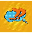 pop art speech bubble vector image vector image