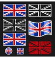 British Flag Set vector image