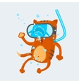 Cat Diver vector image