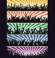 Concert crowds vector image