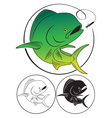 Dolphin fish vector image
