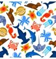 Oceanarium underwater animals and fishes vector image