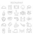 restaurant icon set vector image