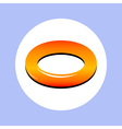 rubber ring in circle vector image