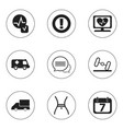 set of 9 editable complicated icons includes vector image